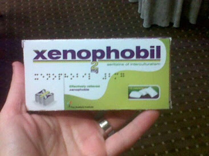 Xenophobil, ένα «φάρμακο» που ανακουφίζει από τα συμπτώματα της ξενοφοβίας (medlabgr.blogspot.com)